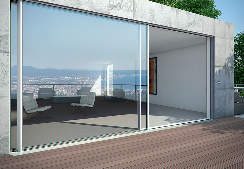Porte finestre scorrevoli sch co vendita prezzi rimini for Infissi balcone